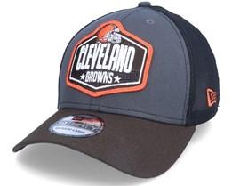 Cleveland Browns 39Thirty NFL21 Draft Dark Grey/Brown Trucker - New Era
