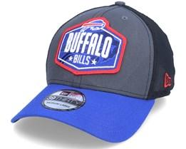 Buffalo Bills 39Thirty NFL21 Draft Dark Grey/Blue Flexfit - New Era