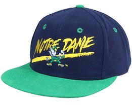 Notredame Fighting Irish Script College Vintage Navy/Green Snapback - Twins Enterprise