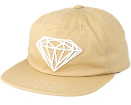Brilliant Unconstructed Khaki Snapback - Diamond