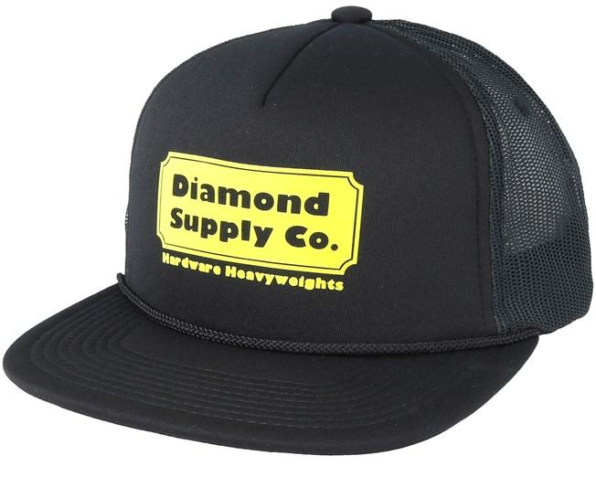 Hardware Trucker Black Snapback - Diamond lippis - Hatstore.fi b0df77a12e