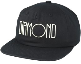Diamond Deco Unconstructed Black Snapback - Diamond