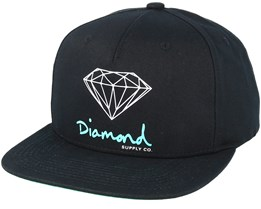 Sign Black Snapback - Diamond