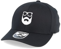 Logo Black Flexfit - Bearded Man