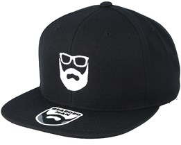 Logo Black Snapback - Bearded Man