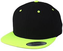 Black/Neon Yellow Snapback - Yupoong