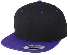 Black/Purple Snapback - Yupoong