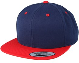 Navy/Red Snapback - Yupoong