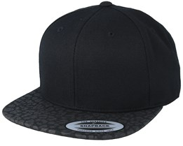 Black/Leopard Snapback - Yupoong