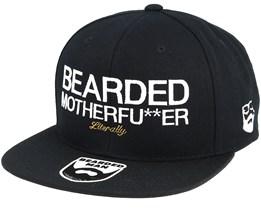 Bearded Mother Fu**ker Black/White Snapback - Bearded Man