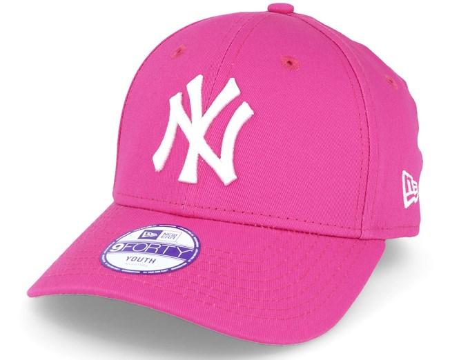 Kids NY Yankees Basic Hot Pink 940 Adjustable - New Era lippis - Hatstore.fi 677117927f