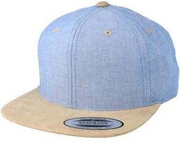 Chambray Suede Blue/Beige Snapback - Yupoong
