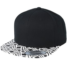 a065eebb07c51 Yupoong Geometric Visor Black Snapback - Yupoong £17.99