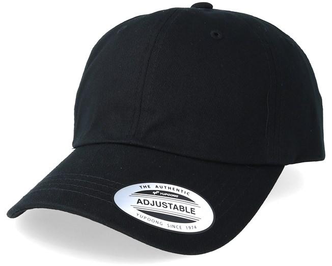 c5585b0e7 Low Profile Cotton Twill Black Adjustable - Yupoong caps | Hatstore ...