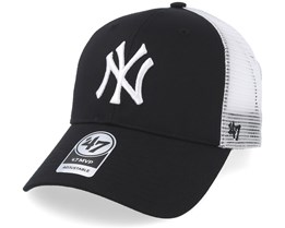57738280777 NY Yankees Branson Black Trucker - 47 Brand