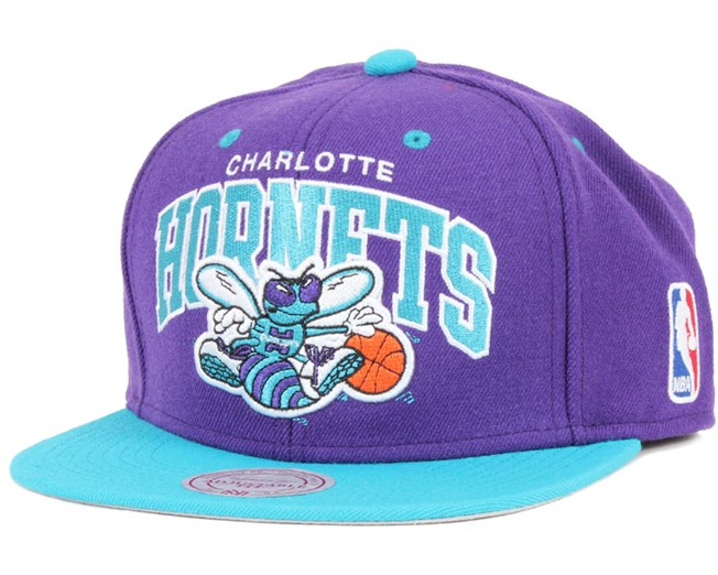 online store 4a241 fbc68 Charlotte Hornets Team Arch Snapback - Mitchell   Ness
