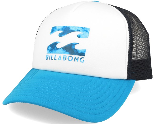 d92790d3ae104 Podium Trucker White Cyan Adjustable - Billabong - Start Boné - Hatstore