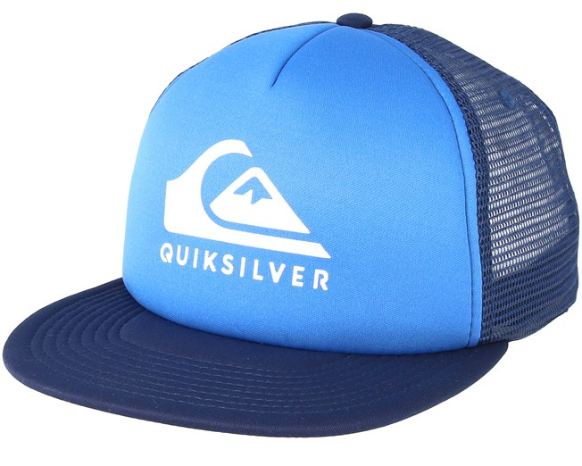 Foamslay Blue Trucker - Quiksilver caps  7b35bf72118