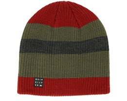 Silas Red/Green/Navy Beanie - Quiksilver