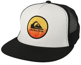 Kids Bombastic White/Black Trucker - Quiksilver