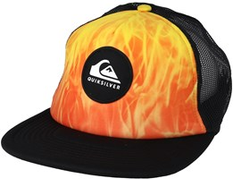 Brightlearnings Orange/Black Trucker - Quiksilver