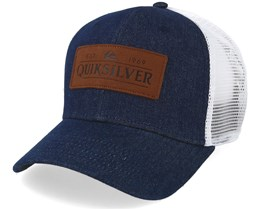 Vine Beater Dark Denim White Trucker - Quiksilver e7a90667e27