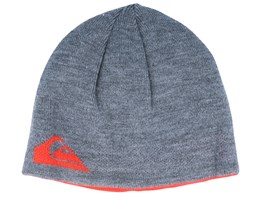 M&W Turnable Grey/Orange Beanie - Quiksilver