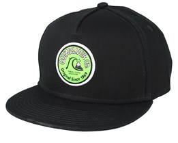Kids Wave Rocker Black Snapback - Quiksilver
