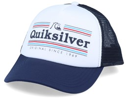 Jetty Crocker White/Navy Trucker - Quiksilver
