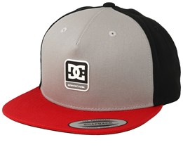 Snapdragger Grey/Black/Red Snapback - DC