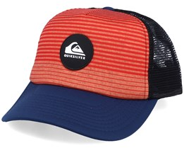 Kids Tuuana Red/Black/Navy Trucker - Quiksilver
