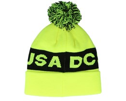 Chester Beanie Safety Yellow/Black Pom - DC