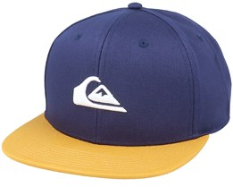 Chompers Midnight Navy/Yellow Snapback - Quiksilver