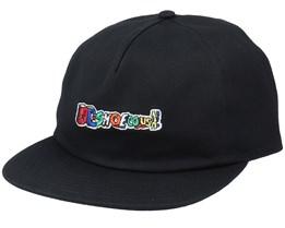 All Caps Black Snapback - DC