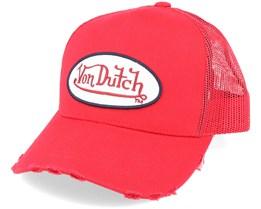Oval Patch Fresh Red Trucker - Von Dutch