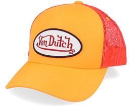 Oval Patch Baseball Fresh Neon Orange Trucker - Von Dutch