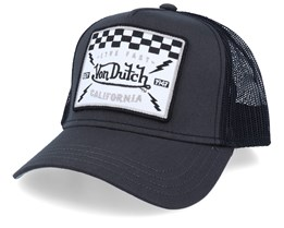 Live Fast California Square Patch Charcoal/Black Trucker - Von Dutch