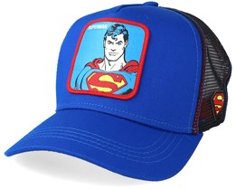 Justice League Superman Blue Red Trucker - Capslab bc3fe7594cb
