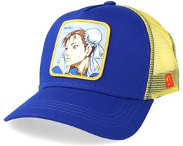 Street Fighter Chunli Blue/Yellow Trucker - Capslab