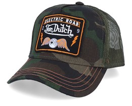 Electric Road Flying Eye Patch Camo Trucker - Von Dutch