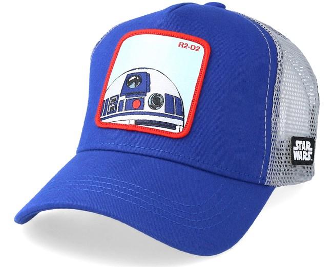 9bfa24f6fb7 Star Wars R2D2 Blue Grey Trucker - Capslab caps - Hatstoreworld.com