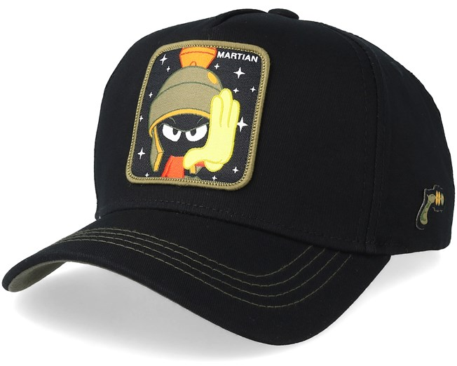 5a1827dedbc90 Looney Tunes Marvin The Martian Black Olive Adjustable - Capslab cap -  Hatstore.co.in