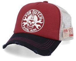 Is Still Alive Bordeaux/Beige/Black Trucker - Von Dutch