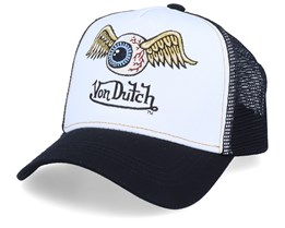 Flying Eye White/Black Trucker - Von Dutch