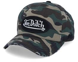 Oval Patch Green Camo/Black Adjustable - Von Dutch