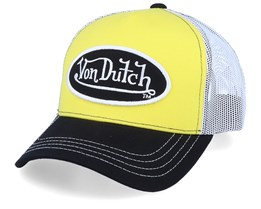 Oval Patch Yellow/White/Black Trucker - Von Dutch