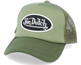 Oval Patch Mousse Avec Filet Green Trucker - Von Dutch