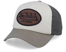 Oval Patch Beige/Olive Adjustable - Von Dutch