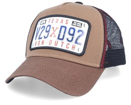 Texas The Lone Star State plaque Brown/Black Trucker - Von Dutch