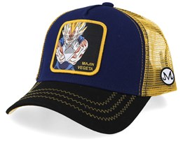 Dragon Ball Majin Vegeta Navy/Black/Yellow Trucker - Capslab